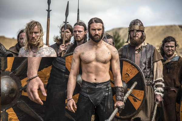 "Rollo and arm ring in TV series ""Vikings"""