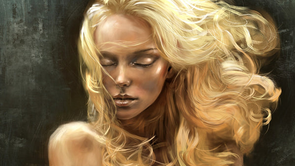 The beautiful golden hair of Sif Wife of Thor in Norse mythology