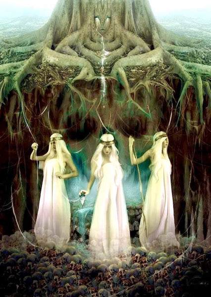 The Norns in Norse mythology were the fate creators for all beings in the cosmos