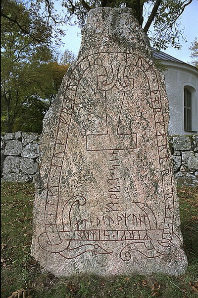 The Stenkvista runestone depicting Thor's hammer