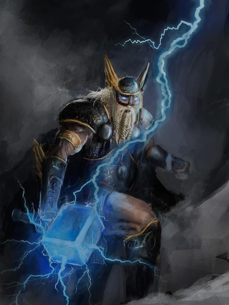 Thor wielded his Mjolnir hammer to create lightning