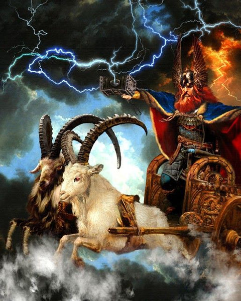 Thor and his goats in Norse mythology