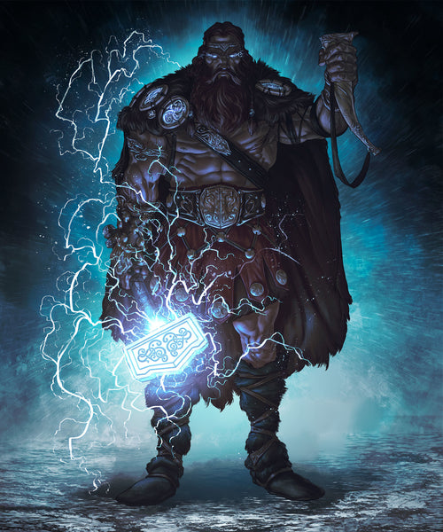 Thor God of Lightning and Storm