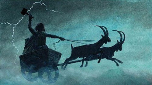 Thor had his chariot pulled by two goats