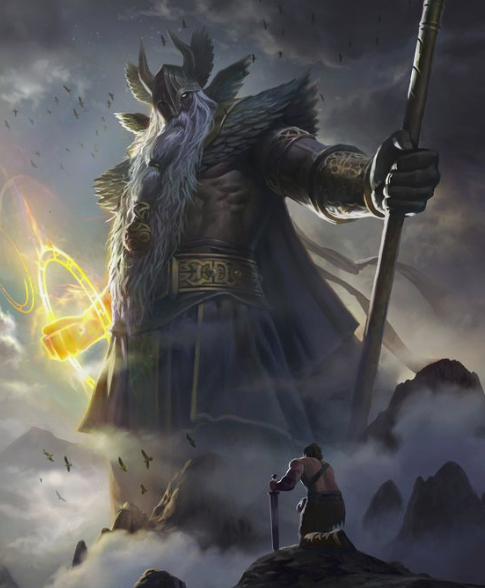 Hail Odin the Allfather. In Norse mythology, Odin the Allfather was the ruler of Valhalla the great hall where Odin would welcome the fallen warriors to come and feast with the gods.