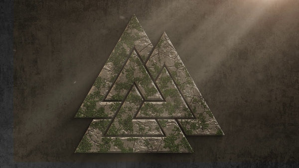 Valknut symbol of Odin in Norse mythology