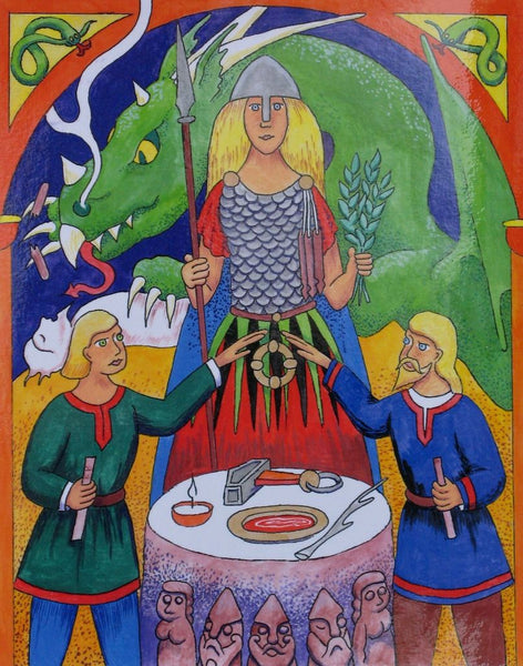 In Norse mythology, Var was the Keeper of Promise. She would be evoked during the vowing ritual as the holy witness