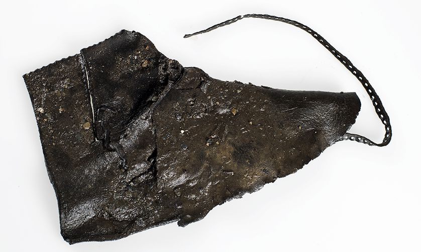 Image of Viking leather shoe artifact