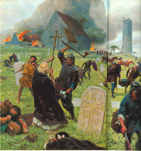 The Vikings attacked on Lindisfarne as a counter-act to the Christian deeds.