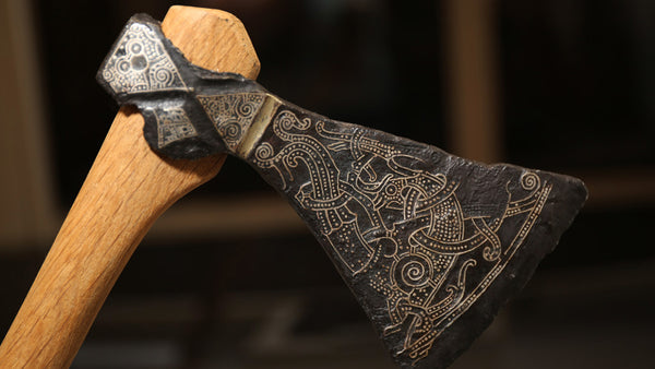 A replica of the Viking Mammen Axe