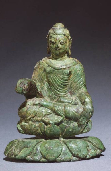 Viking Buddha Statue is a part of Helgo Treasure of a Viking burial mound