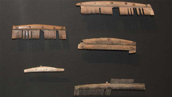 Viking comb artifact on display in museum