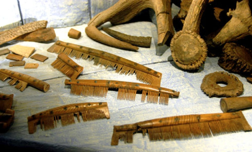 Viking grooming combs excavated by the archaeologist. These Viking artifact attested to the Viking grooming habits
