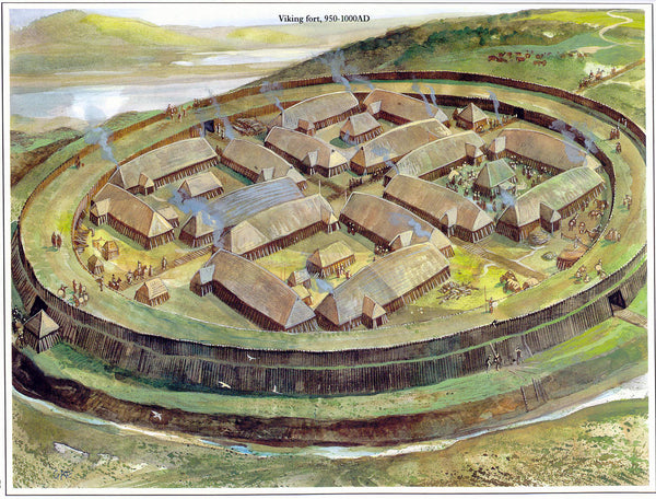 Viking trelleborg is Viking defensive structure. Though the Vikings copied this structure, the archaeologists believed the Viking forts were the most strictest and most geometrical precise.