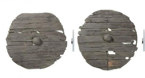 Viking artifact Gokstad shields excavated as the archaeological evidence