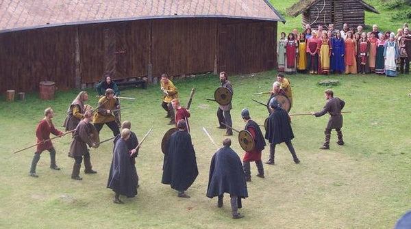 Viking fighting scene