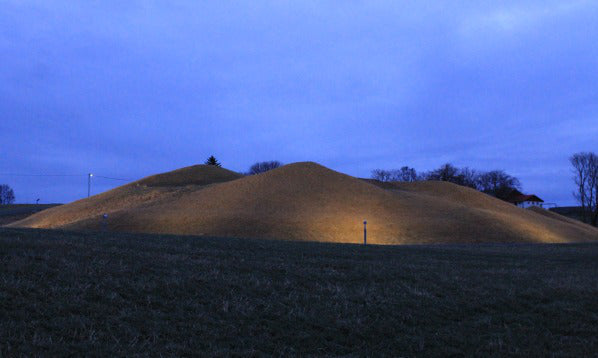 Image of the Viking burial mound of Viking King Herlaug