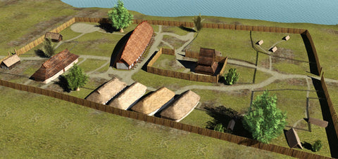Viking lake Tissø in Denmark Reconstruction of the Viking age