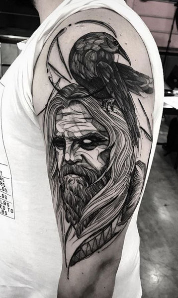 Odin the Allfather has become an inspiration source for the inked community