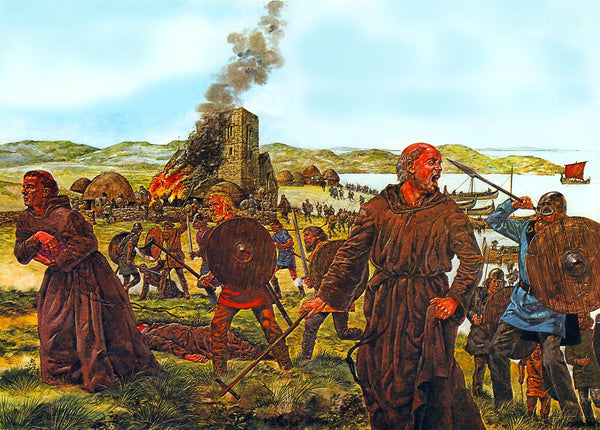 Viking raid on Lindisfarne Monastery