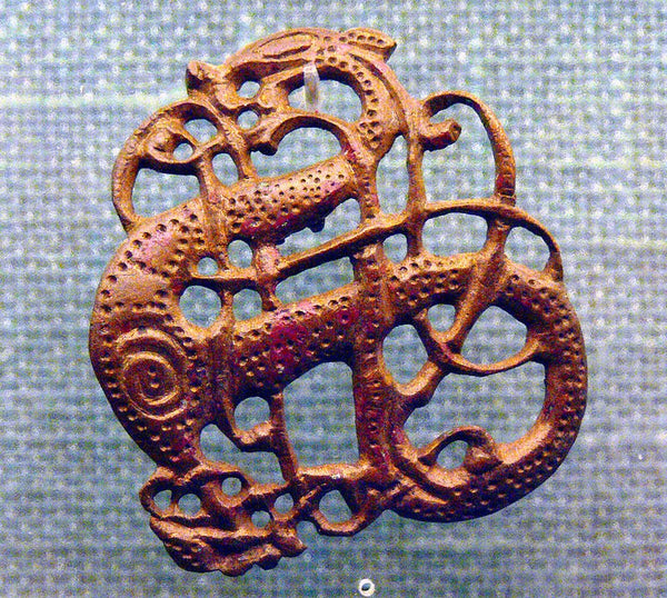 Viking Urnes style on Viking ornament