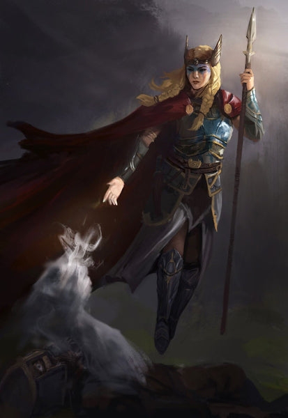 Viking Valkyrie was the female helping spirit of Odin the Allfather