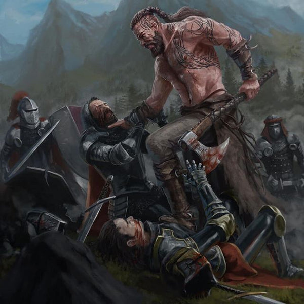 Viking berserkers went into battle without armour. They voluntarily made the ultimate sacrifice for the battle