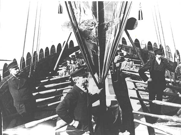 Image of the Viking ship the first Viking ship ever built in the 19th century to cross Atlantic Ocean