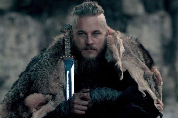King Ragnar with sword