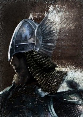 Image of Viking winged helmet Viking warrior