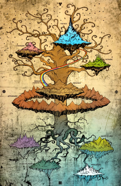 Yggdrasil Tree of Life in Norse mythology