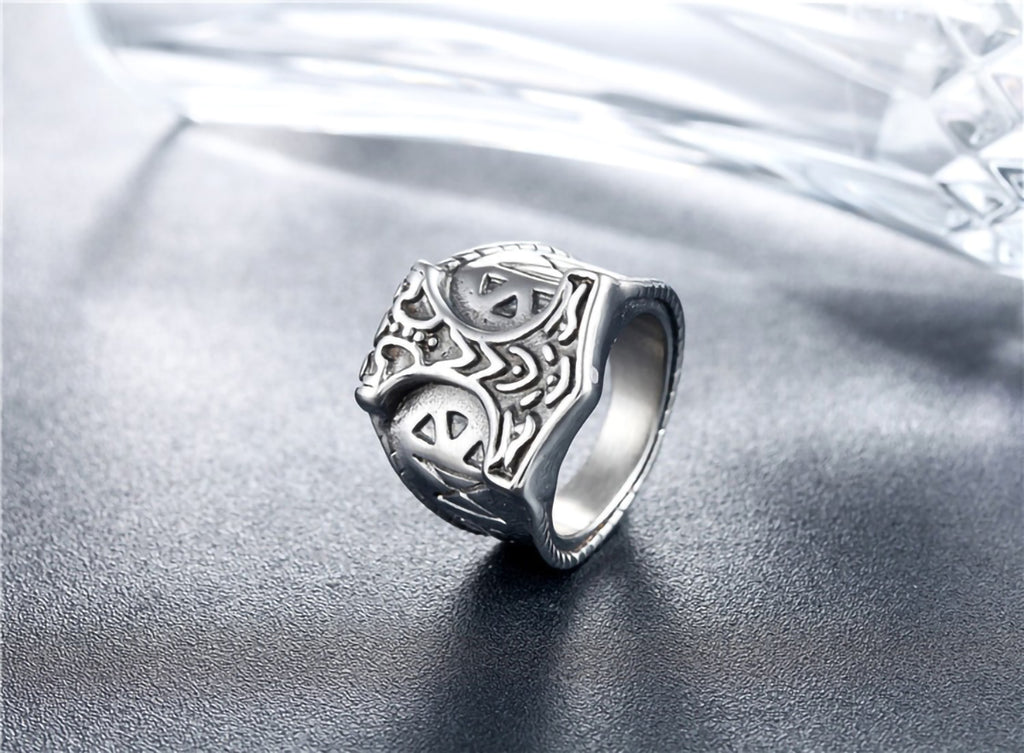 Stainless Steel Viking Thor Hammer Mjolnir Ring