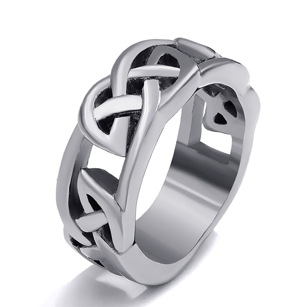 Stainless Steel Celtic Knot Eternity Ring