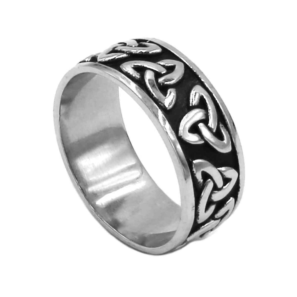 Stainless Steel Celtic Triquetra Knot Ring