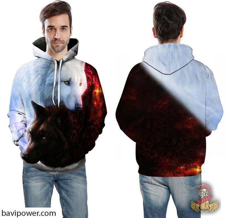 bavipower-viking-jewelry-3D Ice and Fire Wolfs Hoodie-3d hoodie-BaViPower-LMS174-4XL-BaViPower