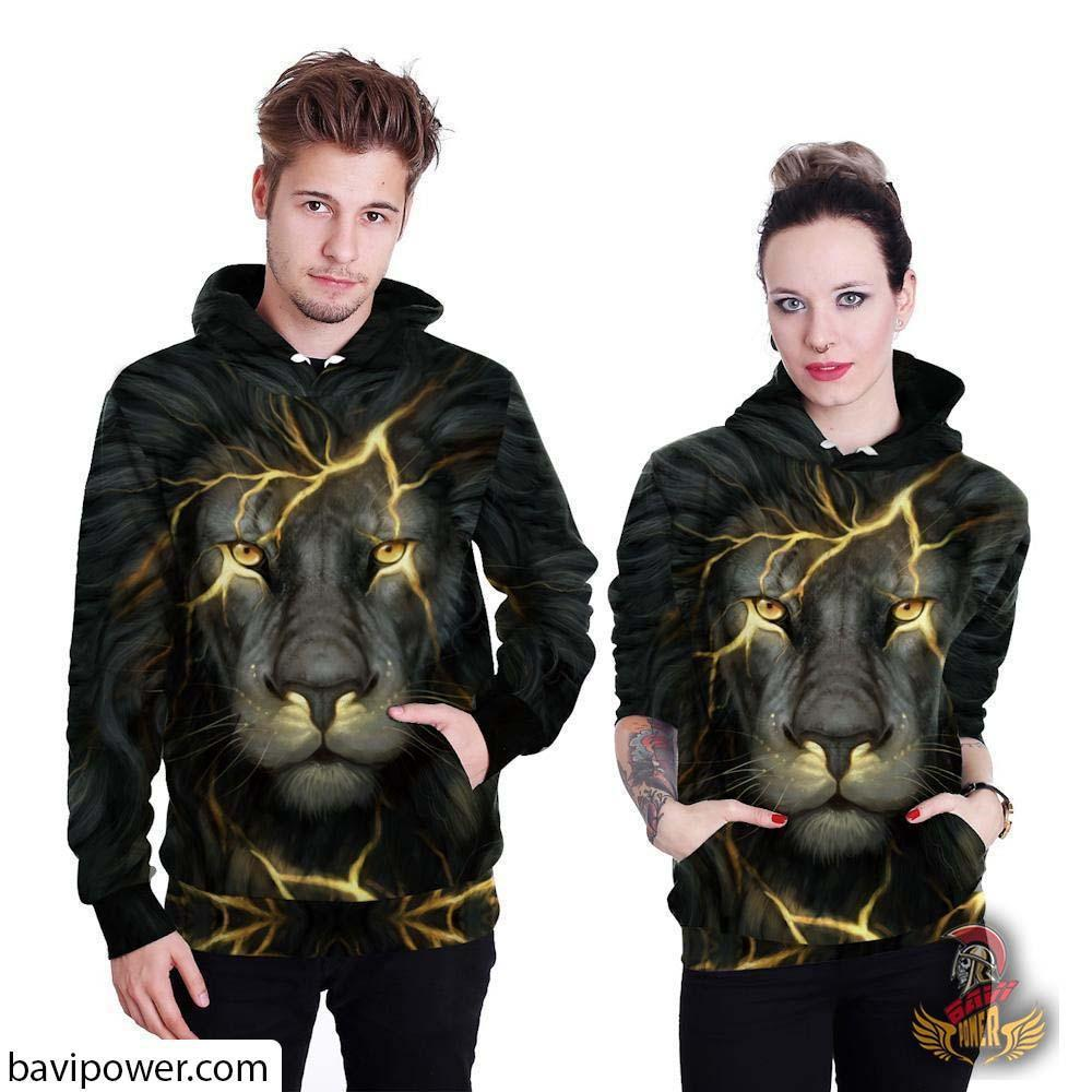 3D Lighting Lion Hoodie