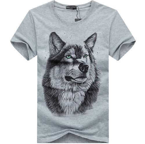bavipower-viking-jewelry-3D White Wolf T-shirt-3d t-shirt-BaViPower-Gray-S-BaViPower
