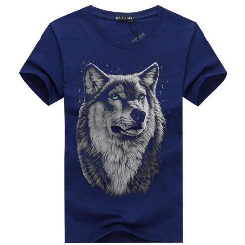 bavipower-viking-jewelry-3D White Wolf T-shirt-3d t-shirt-BaViPower-Navy blue-S-BaViPower