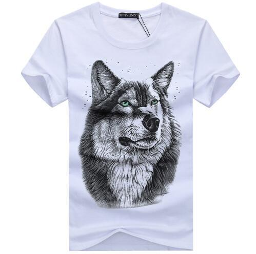 bavipower-viking-jewelry-3D White Wolf T-shirt-3d t-shirt-BaViPower-White-S-BaViPower