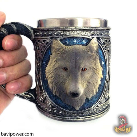 3D Wolf Head Coffee Mugs