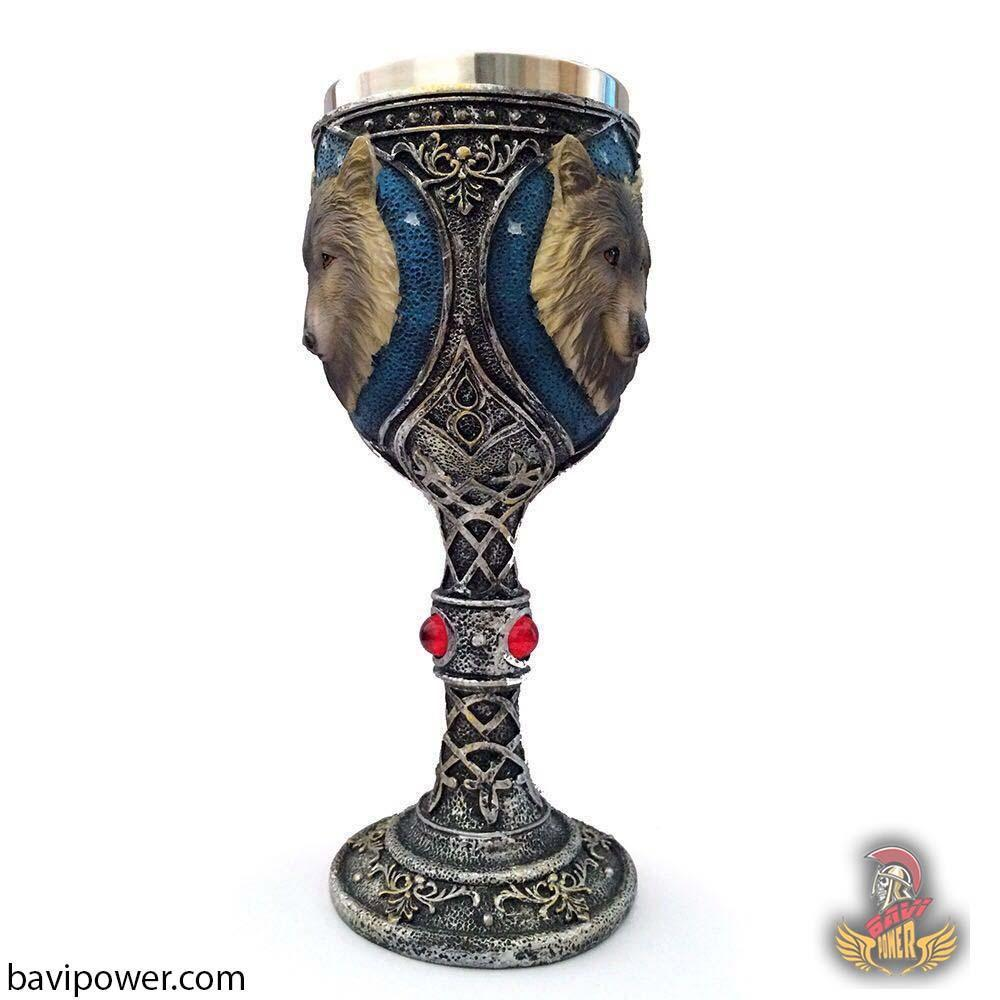 3D Wolf Head Goblet