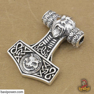 925 Sterling Silver Big Thor's Hammer Pendant