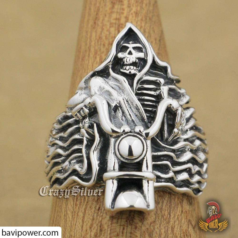 925 Sterling Silver Death Rider Ring
