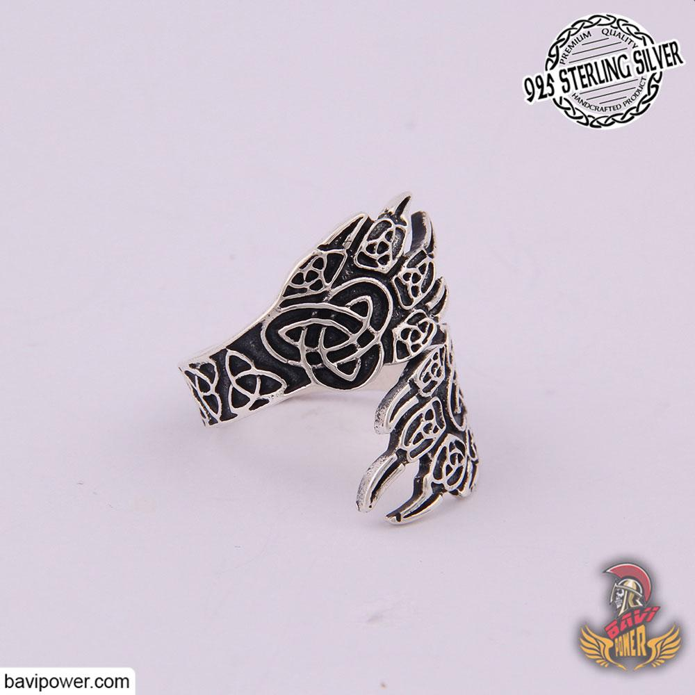 925 Sterling Silver Double Bear Paw Ring