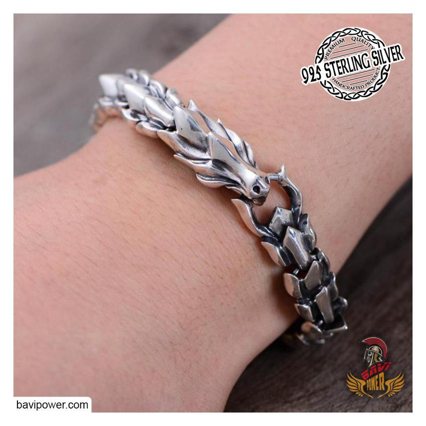 925 Sterling Silver Dragon Scale Bracelet