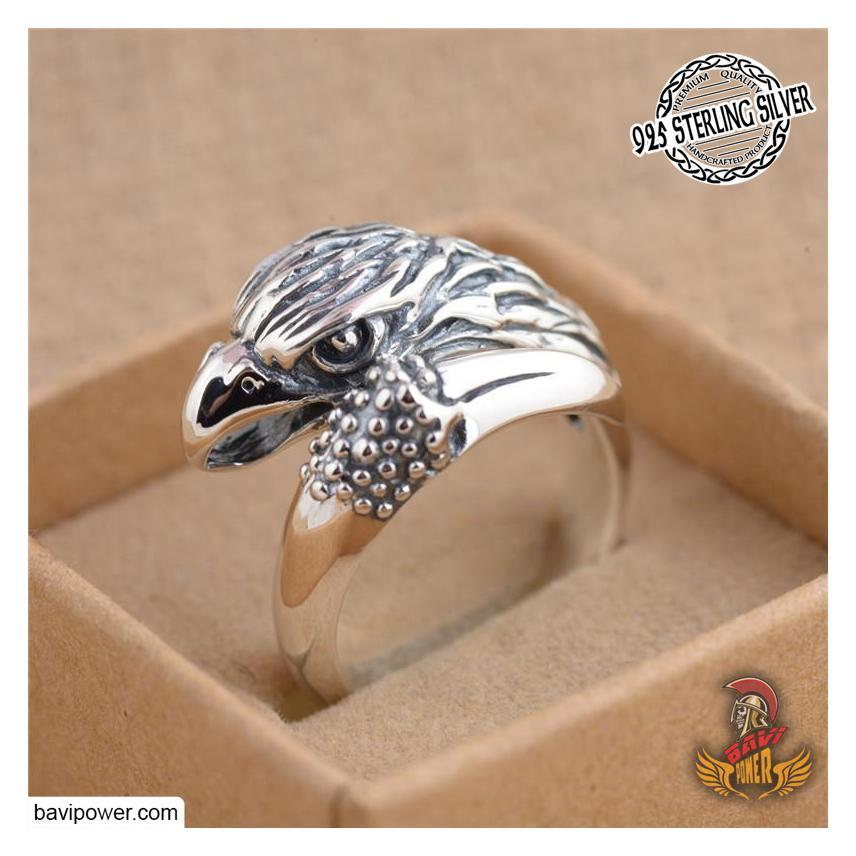 925 Sterling Silver Eagle Head Ring