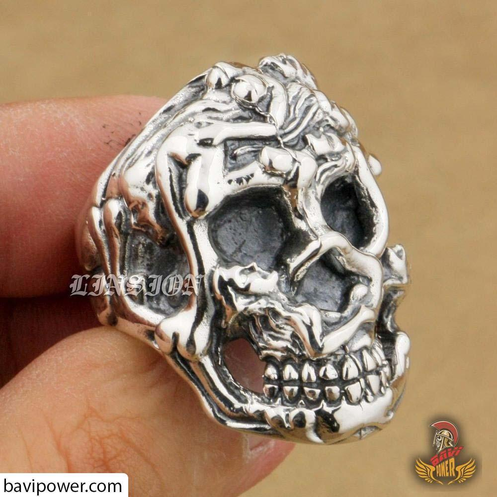 925 Sterling Silver Sexy Skull Ring