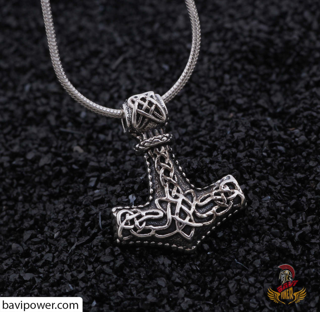 925 Sterling Silver Thor's Hammer Necklace