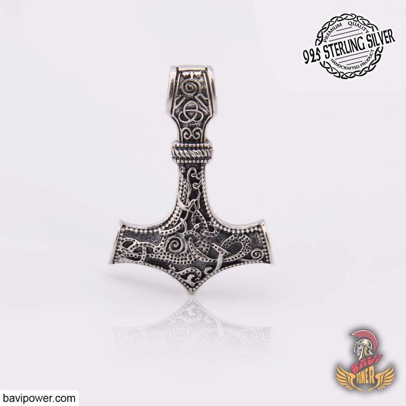 925 Sterling Silver Thor's Hammer Pendant