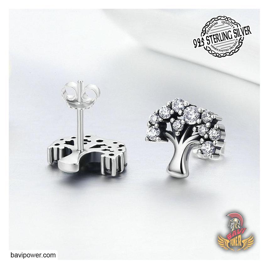 925 Sterling Silver Tree of Life Stud Earrings